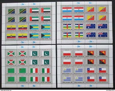 OSN New York 1984 Vlajky Archy Mi# 448-63 22€ 1205
