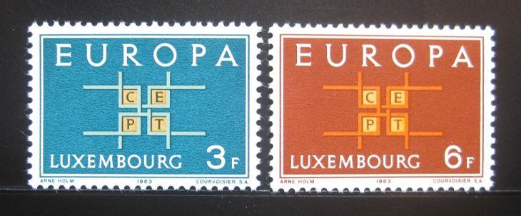 Lucembursko 1963 Evropa CEPT Mi# 680-81 0450 - Filatelie