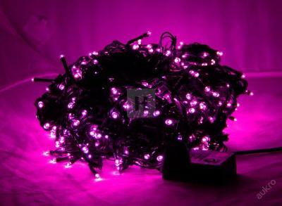 Vánoční osvětlení 500 LED Fialova 41m Programátor