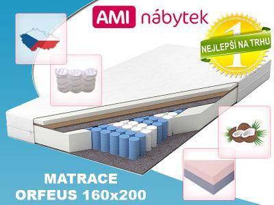 9 zónová taštičková matrace ORFEUS 160x200 KOKOS