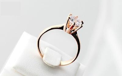 Prsten 18K 3x pozlacený zirkon 19mm *254