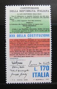 Itálie 1978 Výročí ústavy Mi# 1619 0822