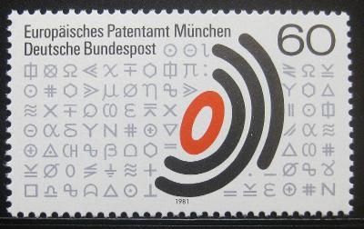 Německo 1981 Evropský patentní úřad Mi# 1088 0640