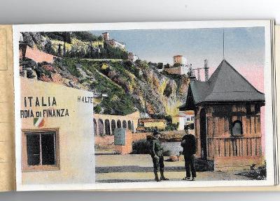 Itálie, Grimaldi, 12 x pohled v malém albumu.