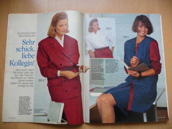 Německý časopis - NEUE MODE - číslo 1. z roku 1988 - Časopisy
