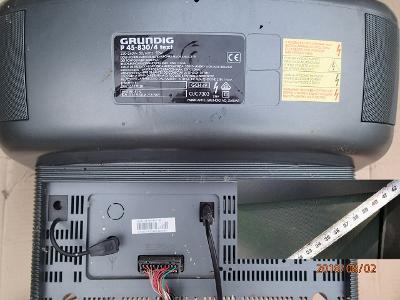 "Černá 17"" CRT Grundig P 45-830/4 text SCART a anténa bez ovladače"