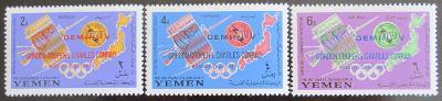 Jemen 1965 Průzkum vesmíru Mi# 179-81 Kat 25€ 0931