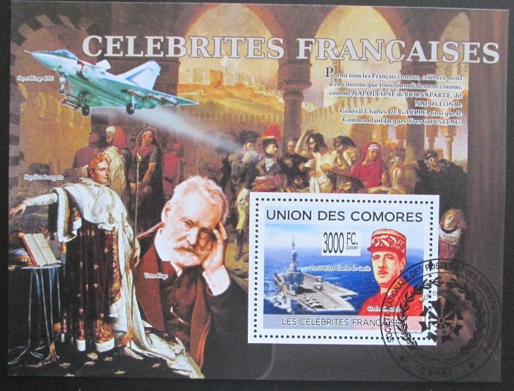 Komory 2009 Slavní Francouzi Mi# Bl 492 15€ 0515 - Filatelie