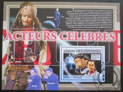 Komory 2009 Slavní herci Mi# Bl 500 15€ 0515