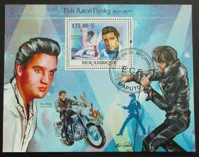 Mozambik 2009 Elvis Presley Mi# Bl 272 10€ 1307