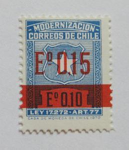 Chile 1971 Modernizace, pošt. daně Mi# 5 II 0171
