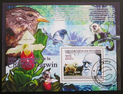 Guinea 2009 Charles Darwin Mi# Block 1688 Kat 10€