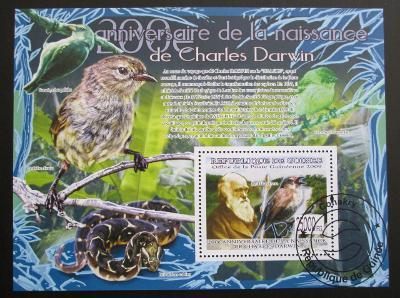 Guinea 2009 Charles Darwin Mi# Block 1689 Kat 10€