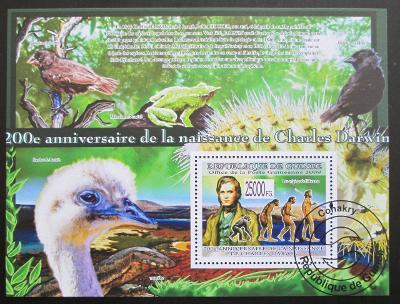 Guinea 2009 Charles Darwin Mi# Block 1690 10€