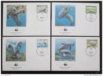 Togo 1984 Kapustňák 017 Mi# 1763-66 FDC WWF