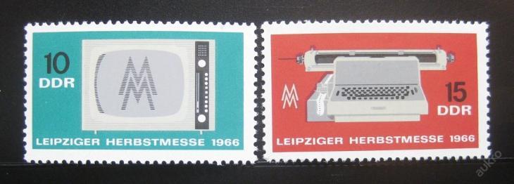 DDR 1966 Lipský veletrh Mi# 1204-05 0010 - Filatelie