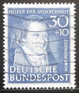 Německo 1951 J. Pestalozzi SC# B323 2700Kc 0347