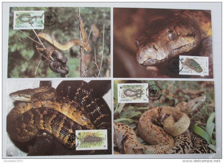 Jamajka 1984 Hadi 019 Mi# 591-94 Pohledy 70€ + WWF - Filatelie