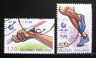 Finsko 1983 MS v lehké atletice Mi# 929-30 0983