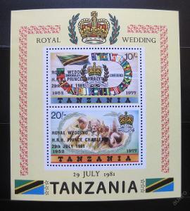 Tanzánie 1981 Královská svatba Mi# Bl 24 10€ 0865
