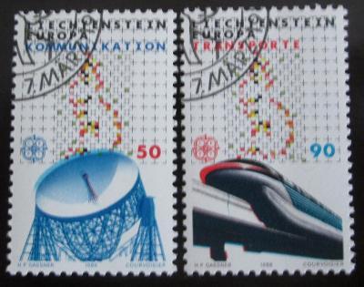 Lichtenštejnsko 1988 Evropa CEPT Mi# 937-38 0801