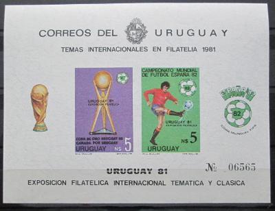 Uruguay 1981 Jihoamerický pohár Mi# Block 51 B