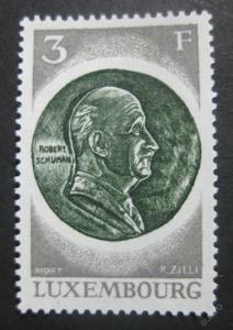 Lucembursko 1972 Schumanova medaile SC# 515 0024