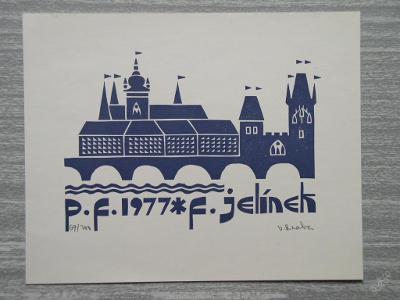 HRABA VÁCLAV PRAHA 1976 GRAFIKA