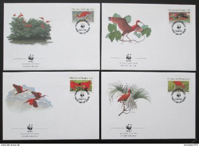 Trinidad a Tobago 1990 Ibis 101 Mi# 596-99 FDC WWF