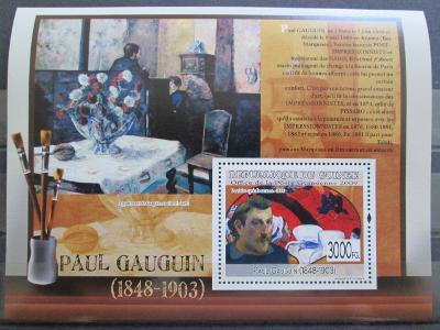 Guinea 2009 Umění, Paul Gauguin Kat 10€ 0166