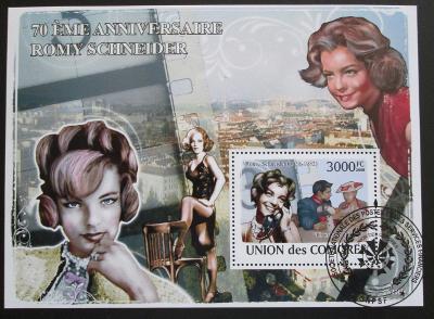Komory 2009 Romy Schneider Mi# Bl 467 15€ SLEVA