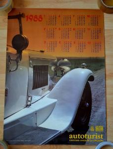 VETERÁNI AUTOTURIST 1988 - PLAKÁT 58 x 42 CM
