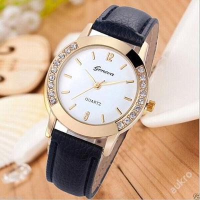 Stylové dámské hodinky Geneva s krystalky