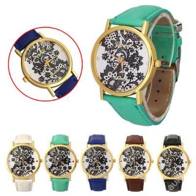 Dámské hodinky Geneva vzor krajka 5 barev