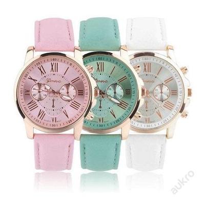 Módní dámské hodinky Geneva římské čísla 3 barev