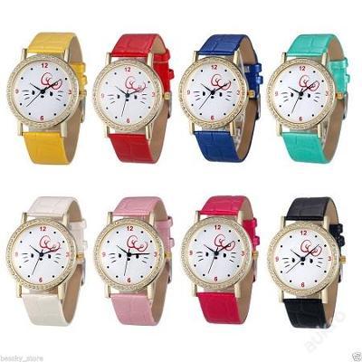 Módní dámské hodinky Geneva s krystalky 8 barev