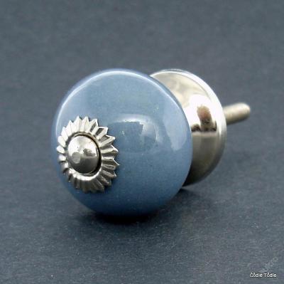 Úchytka keramická šedá jednobarevná 3 cm