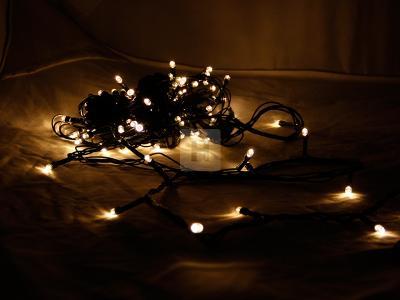 Vánoční osvětlení 100 LED teplá bílá Programátor