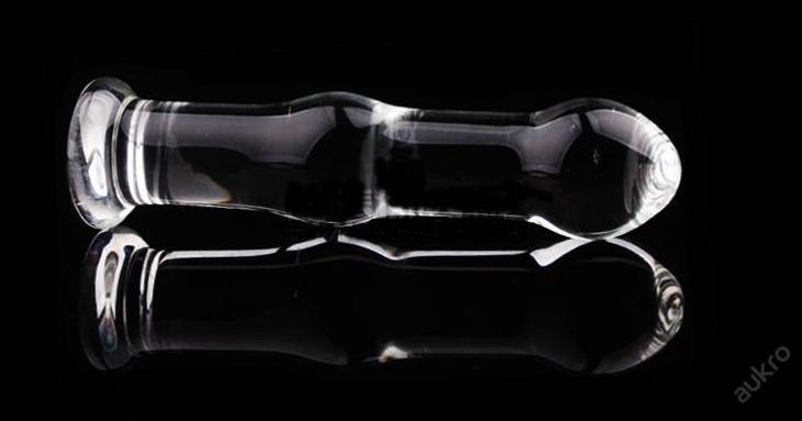 skleněný anální kolík - čirý , typ D - Pomůcky, příslušenství