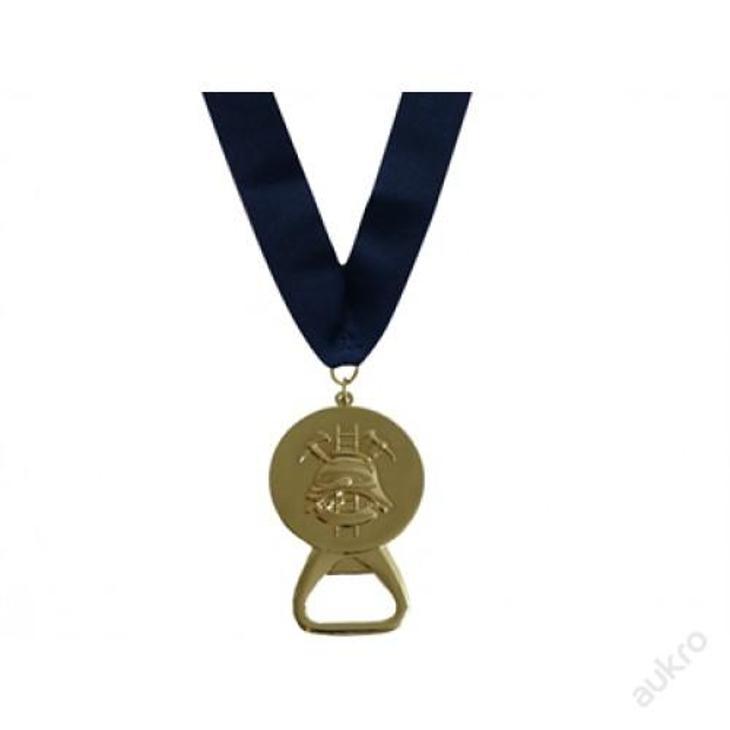 Medaile HASIČI s otvírákem, zlatá - Vojenské