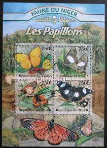 Niger 2014 Motýli Mi# 2021-24 Kat 12€