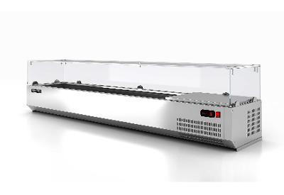Chladící nástavba s rovným sklem 8xxGN1/3 190x39,5