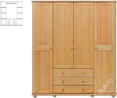 Velká dřevěná šatní skřín SF129 borovice masiv