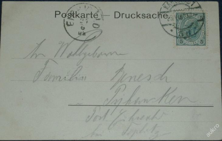 Karlov Vary - Karlsbad - Frühpromenade 1904 - Pohlednice