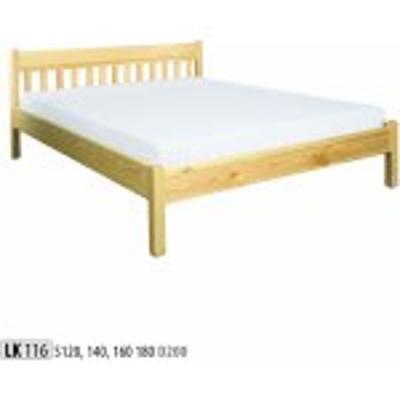 Dřevěná masivní postel 120x200 cm LK116 masiv