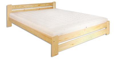 Dřevěná masivní postel 120x200 cm LK118 masiv