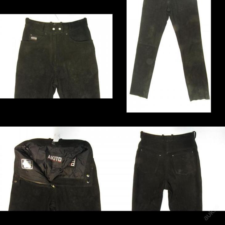 Dámské broušené kožené kalhoty - obvod pasu: 72  - Náhradní díly a příslušenství pro motocykly