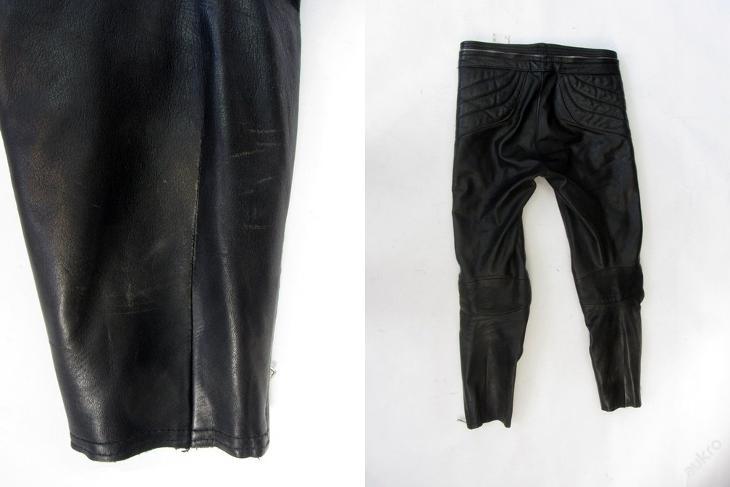 Kožené kalhoty HARRO vel. 48/S - obvod pasu: 82c - Náhradní díly a příslušenství pro motocykly