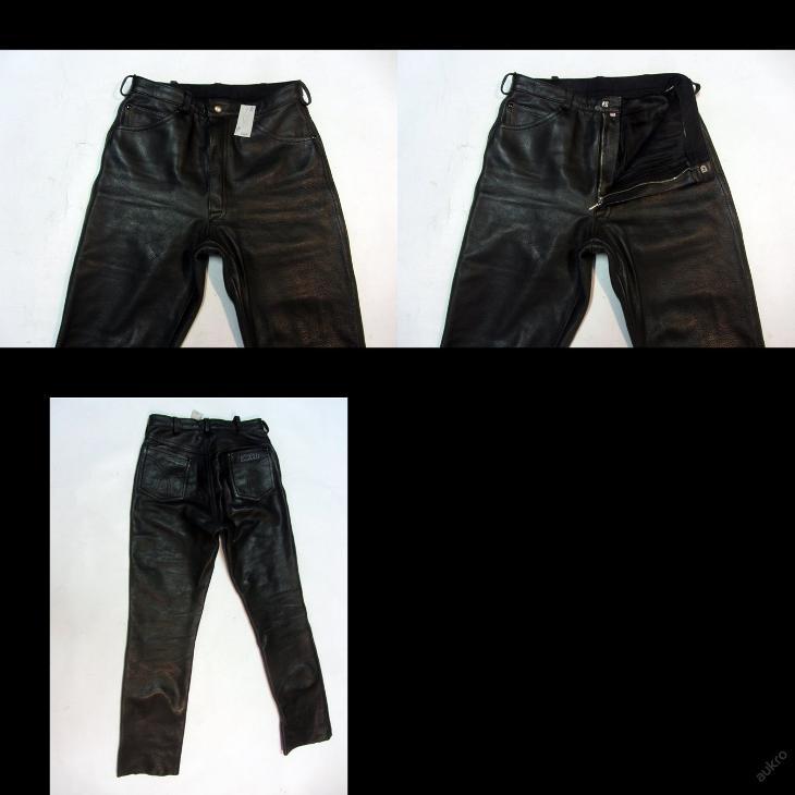 Kožené kalhoty HARRO - obvod pasu: 74 cm - Náhradní díly a příslušenství pro motocykly