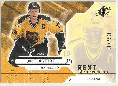 JOE THORNTON 2003-04 SPX NG /500